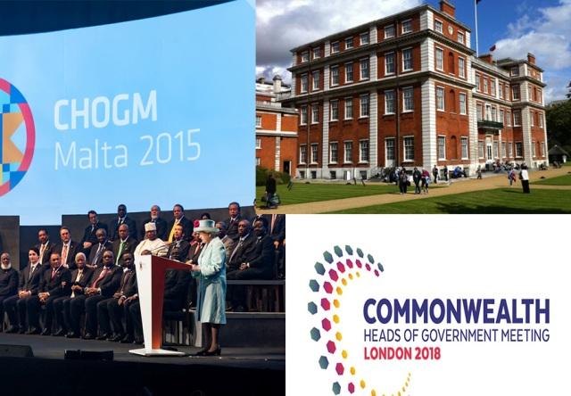 Malta CHOGM opening (Malta CHOGM), Marlborough House (ComSec), CHOGM 2018 logo (ComSec)