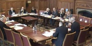 House f Lords International Relations Committee meeting in January 2018