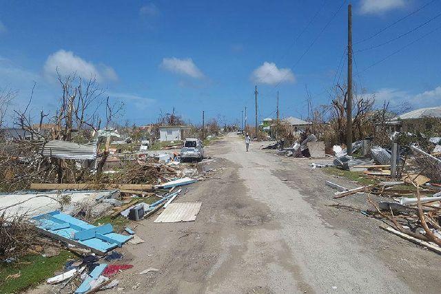 devastation in Barbuda after Hurricane Irma in September 2017