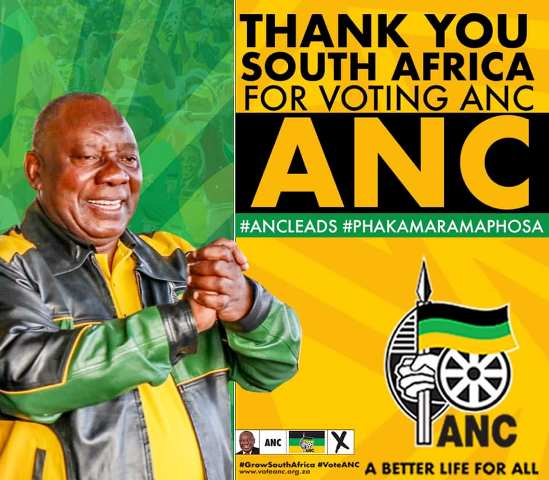 ANC Thank you poster on Facebook