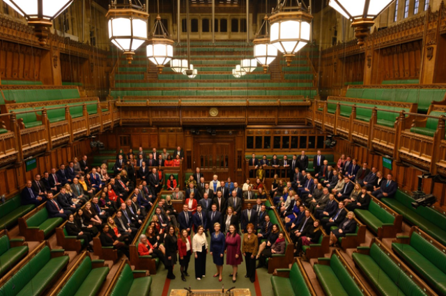 155 new MPs in the UK parliament