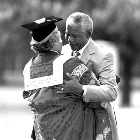 Shridath Ramphal and Nelson Mandela