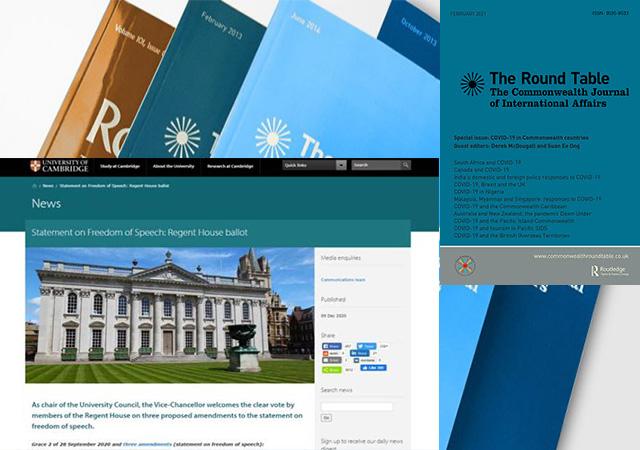 Cambridge University website, Round Table journal
